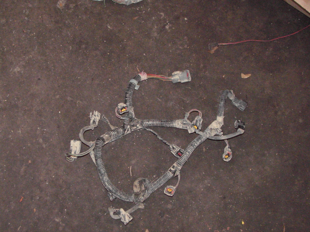 hight resolution of here is the part of the harness that lays over the engine it has the injector connectors tps coolant temp and iac connectors