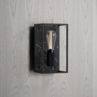 Buster + Punch / Caged / E27 Wall Light in Satin Black Marble