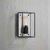 Buster + Punch / Caged / E27 Wall Light in Polished White ...