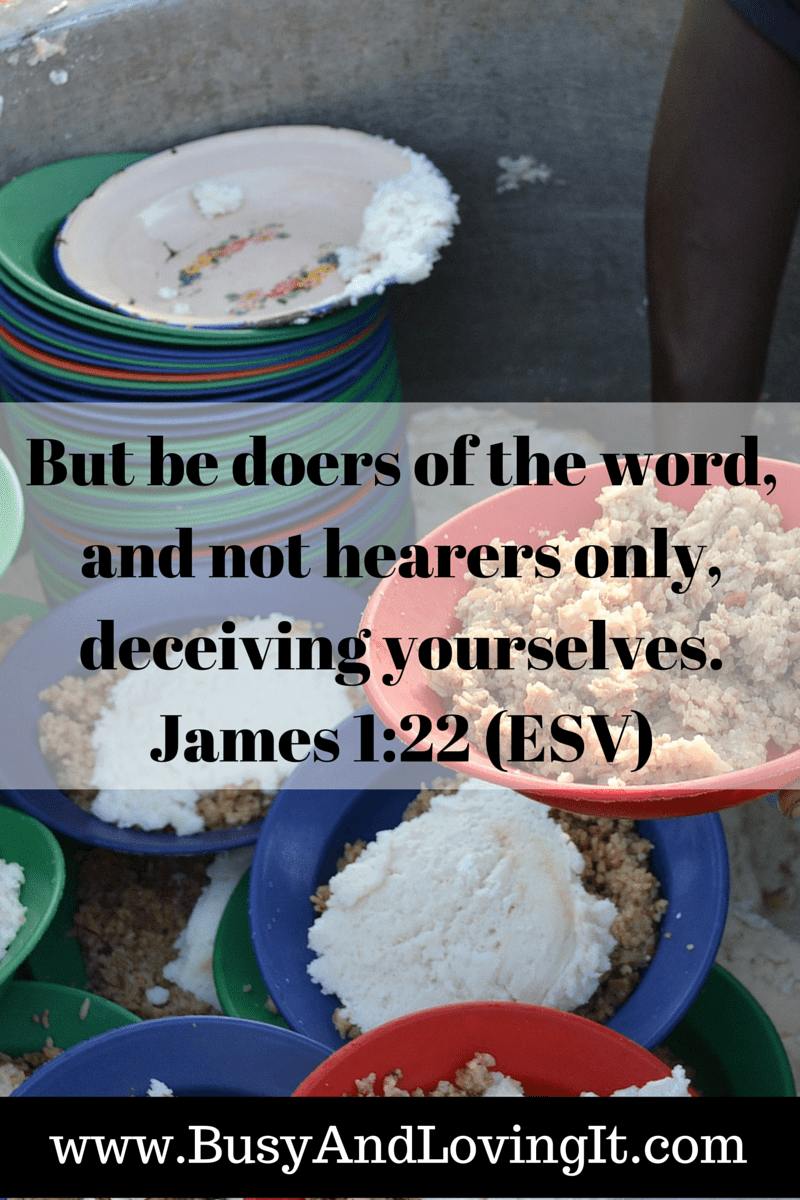 Be Doers of the Word. Are you walking the walk or just talking the talk?
