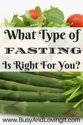 What type of fasting is right for you? This is post is meant to encourage you. Not everyone fasts from food.