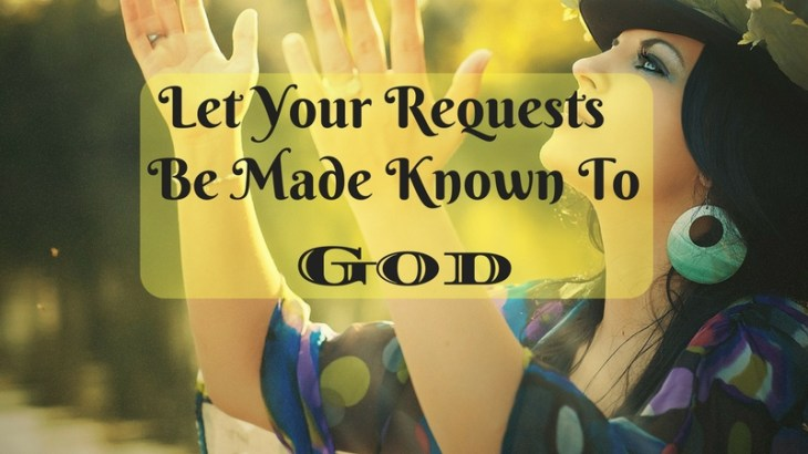 No matter how large or small your problems are, God wants to help. Let your requests be made known to God.