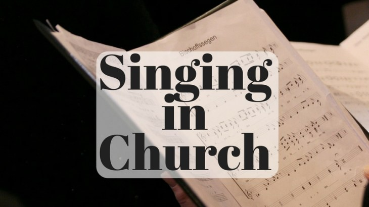 Singing in church is our way of praising God. Do you sing with the worship team?