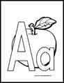 Alphabet Coloring Pages Big Letters