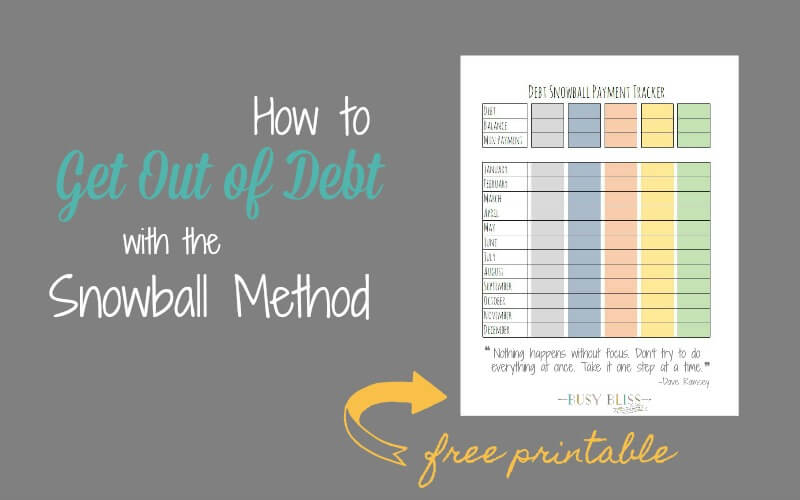 How to Get Rid of Debt with the Snowball Method
