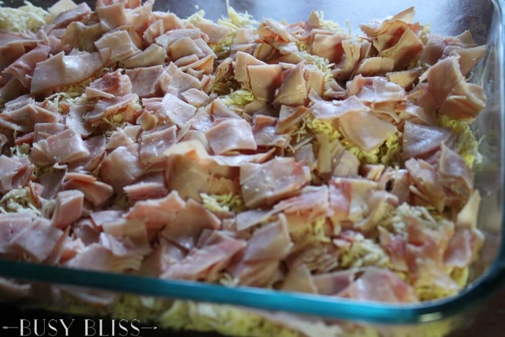 This is the best and easiest low carb chicken casserole. Ham, swiss, and a creamy sauce with hidden veggies make this the perfect dinner!