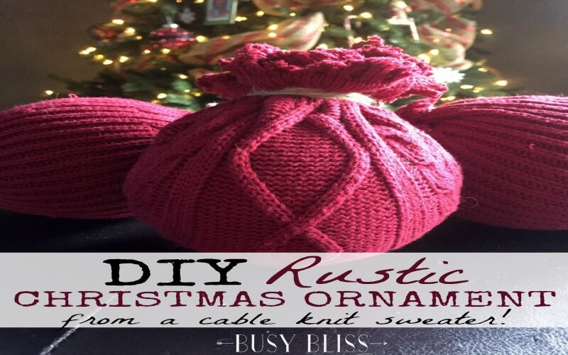 How to Make Easy DIY Rustic Christmas Ornaments