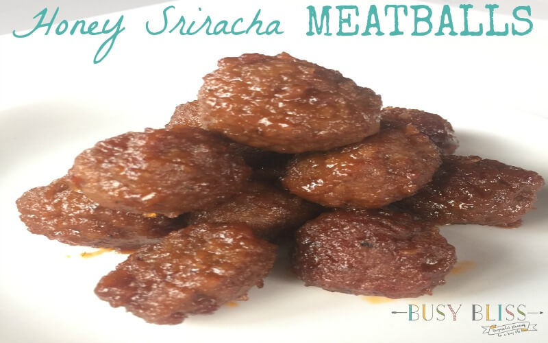 The Best Honey Sriracha Crockpot Meatball Appetizer