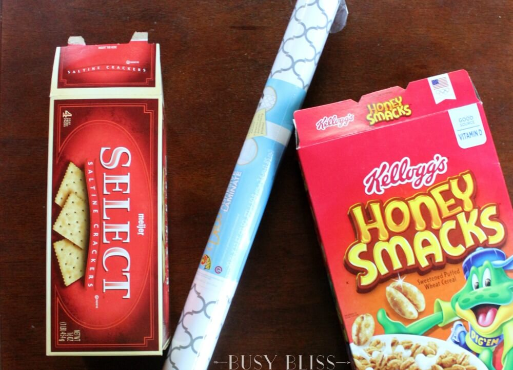 If the outside of your fridge serves as the family bulletin board, you'll love these DIY cereal box paper bins that look like they came from Pottery Barn!