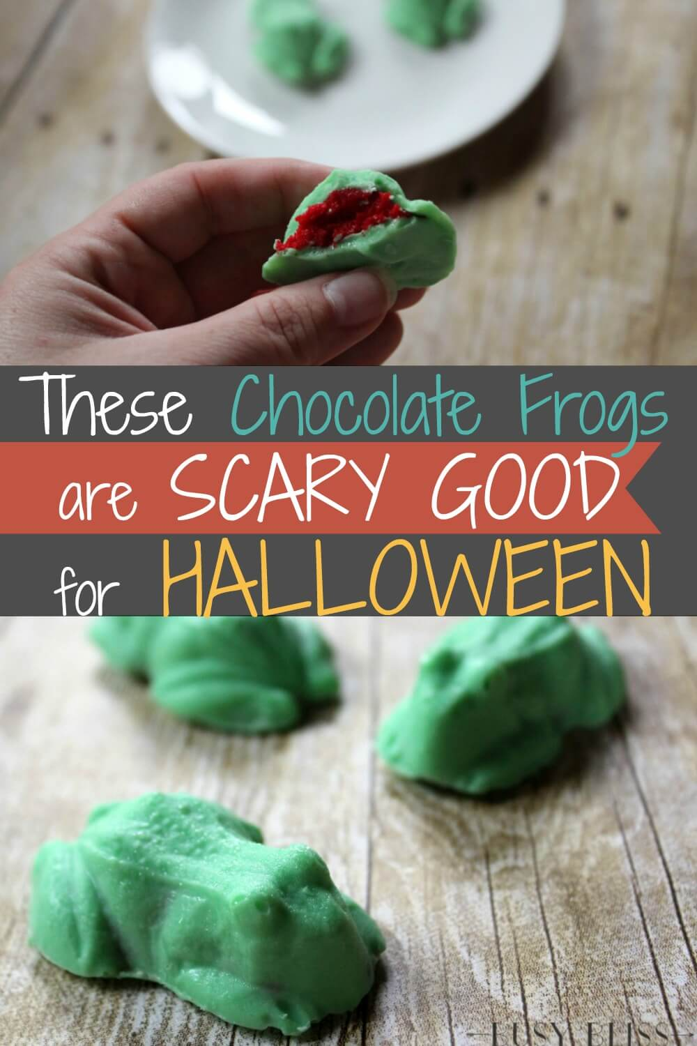Want to serve frogs at your next Halloween party? These cake pop filled chocolate frogs are simple to make and will be a toad-al hit!
