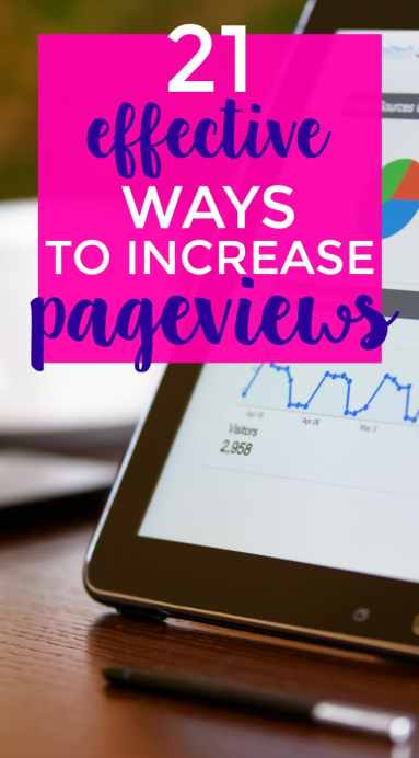 Increase page views on your blog with these 21 effective methods.