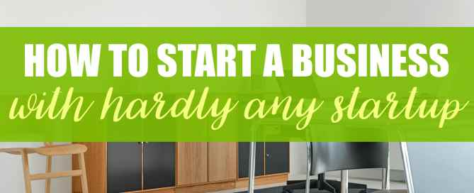 How to start a business with barely any startup. You can start your own blog for under $200.