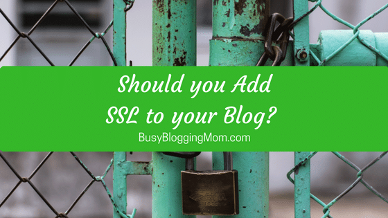 Securing your blog to protect your readers' privacy can become necessary if they have to input any kind of personal information on your site.