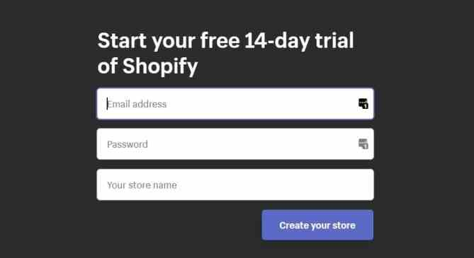 Shopify Account