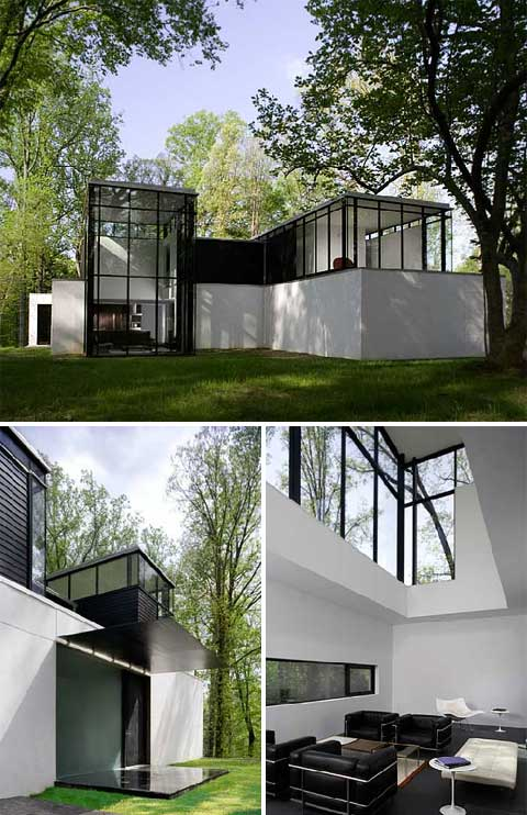 BlackWhite Residence A Glass Home Extension  Home Extensions