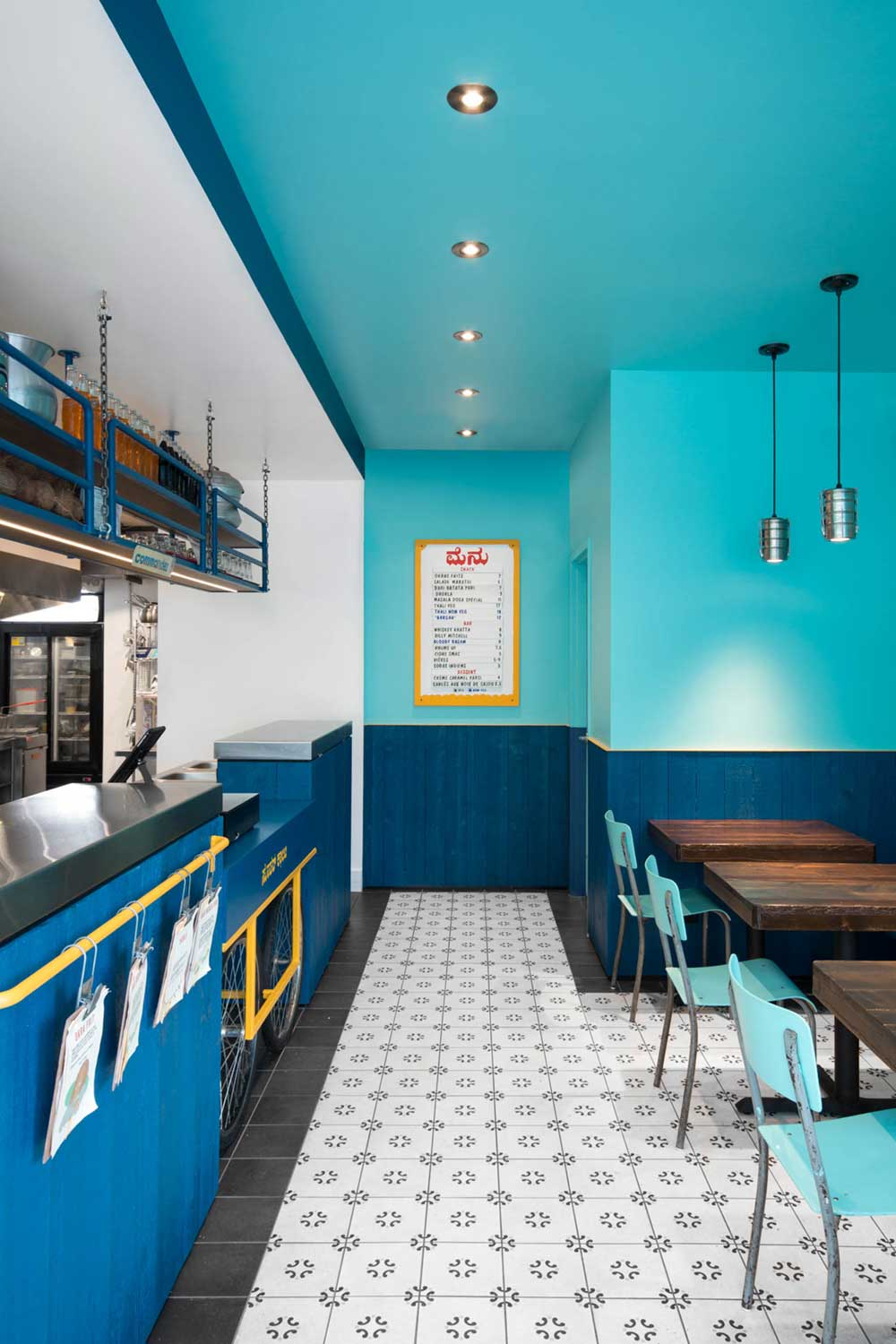 Small kitchens are big on cozy charm but can be difficult to keep them organized. Cool Bollywood'esque Indian Restaurant Design In Montreal, Canada
