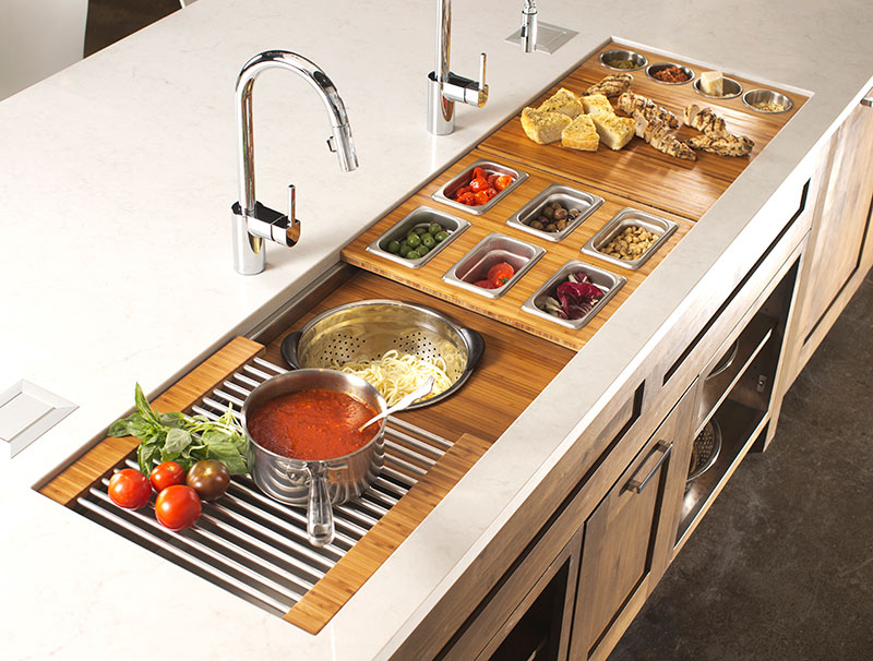 ready made island for kitchen cart with stainless steel top the galley sink workstation 7 - design