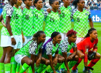 Super Falcons Line up