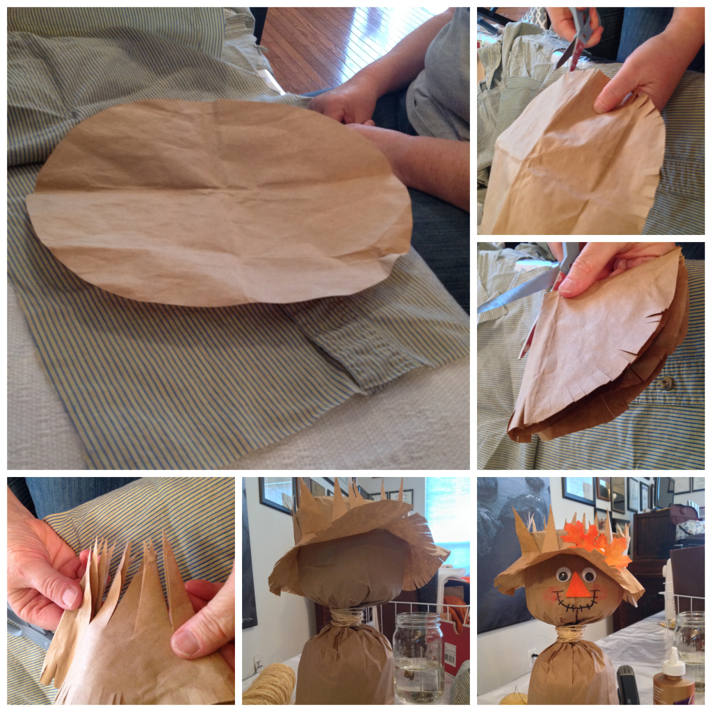 Cheap And Easy Fall Craft Diy Paper Bag Scarecrows