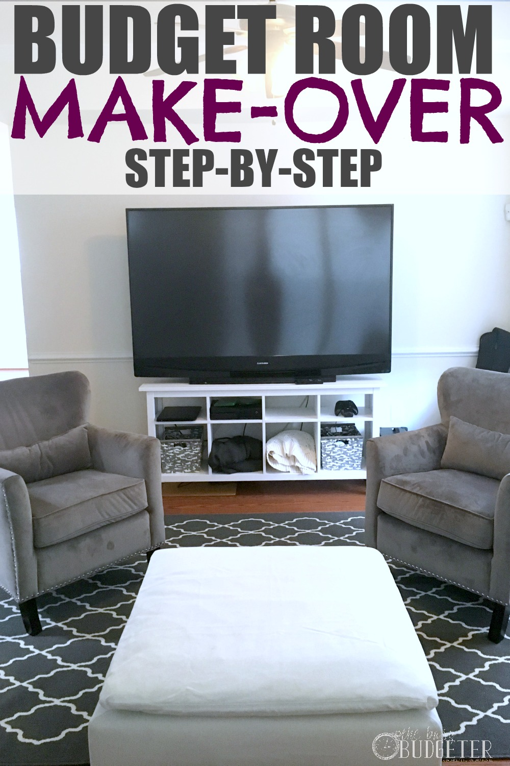 diy small living room makeover contemporary chairs for uk how to redesign your home on a budget busy so excited about this maybe i can finally make over