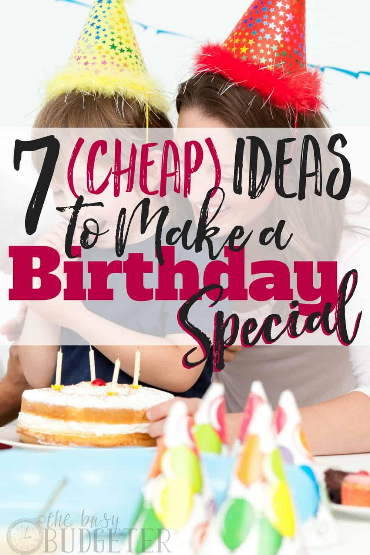 7 cheap ideas to