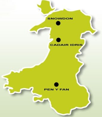 welsh mountains map