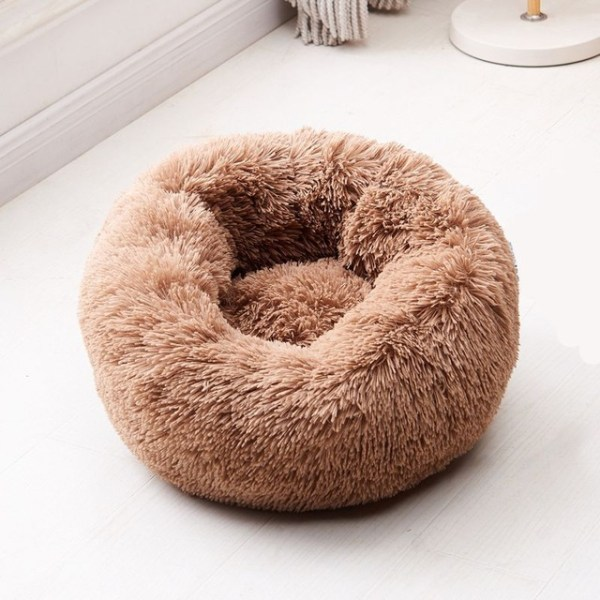 Calming Dog Pet Bet Anti-Anxiety Soothing Cat Beds Brown