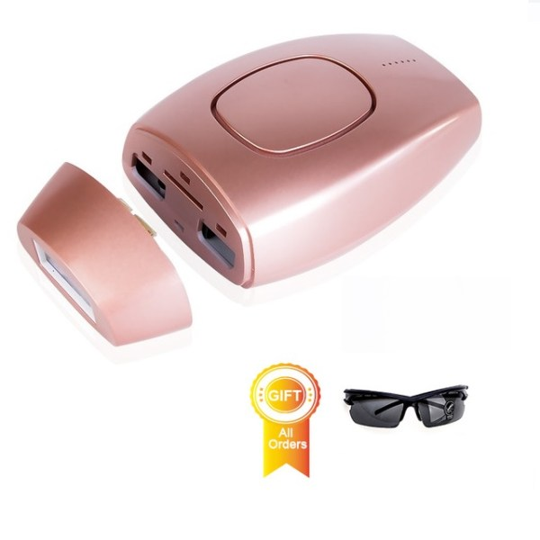 IPL Painless Laser Hair Removal At Home Handset - Pink with Free Eye Protector Shades