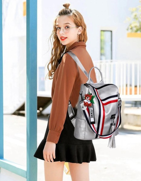 Alexandra Convertible Backpack Purse Anti-Theft Leather Bag - Shoulder Bag Style Model