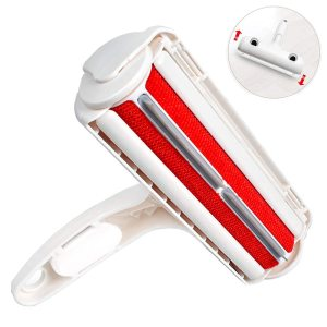 Pet Hair Remover Roller Brush - Red New