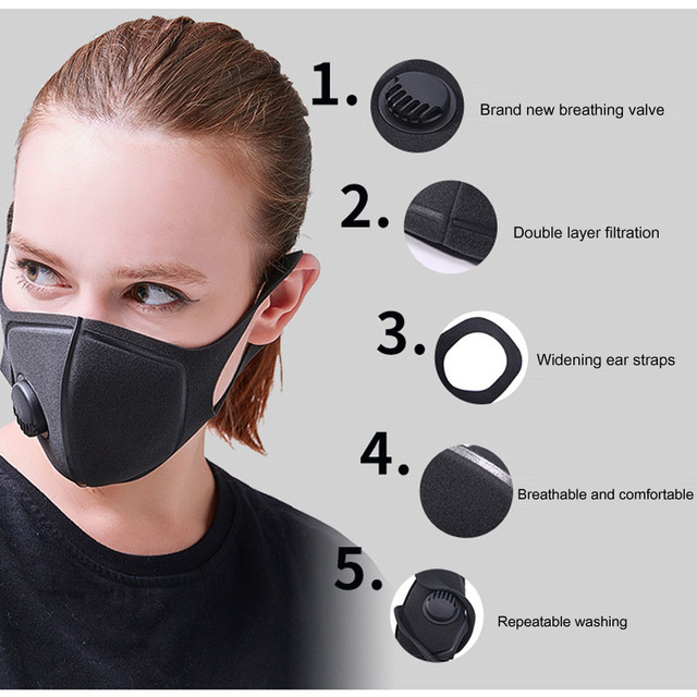 Reusable Face Mask Antibacterial Virus Protection Mask Specifications