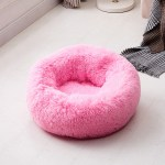 Calming Dog Pet Bet Anti-Anxiety Soothing Cat Beds Deep Pink