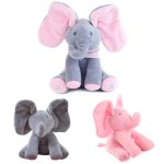 Singing Peek A Boo Elephant Plush Toy