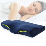 Cervical Pillow Memory Foam For Neck Pain - Blue Primary
