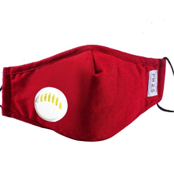 Reusable Face Mask Antibacterial Virus Protection Mask Red
