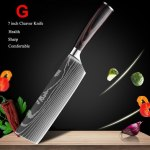 Japanese Kitchen Knives Set Of 10 Pro 7 Inch Cleaver Knife