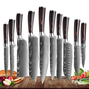 Japanese Kitchen Knives Set Of 10 Pro