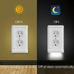 Wall Plate Outlet LED Night Light Automatically Switches On and Off