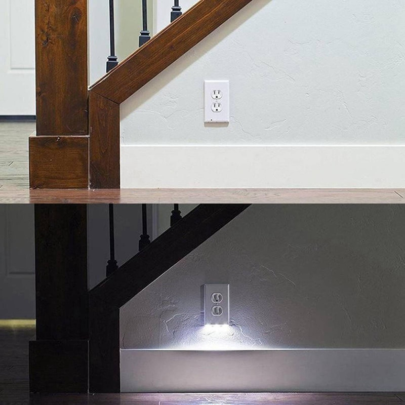 Wall Plate Outlet LED Night Light with Automatic Light Sensor