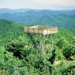 Wesser Bald Hike Lookout Tower & Fire Station