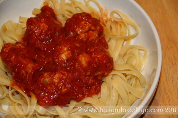Busy in Brooklyn Blog Archive Baked Chicken Meatballs