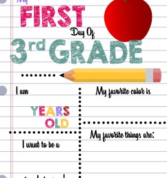 First Day of School Printable Sign Custom Print Outs - Busy Loving Life [ 4200 x 3300 Pixel ]