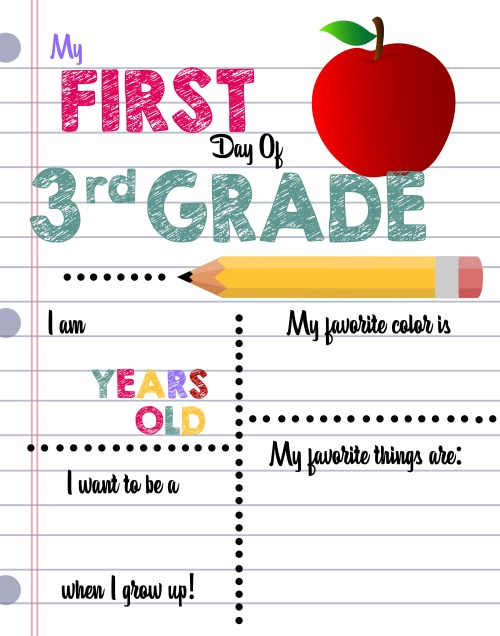 small resolution of First Day of School Printable Sign Custom Print Outs - Busy Loving Life
