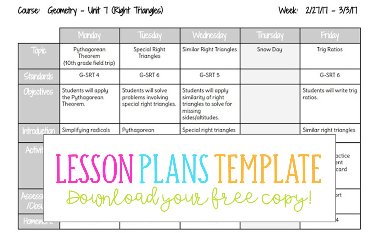 Prepare for class by writing clear lesson plans that are easy to read. Google Docs Lesson Plans Template Busy Miss Beebe