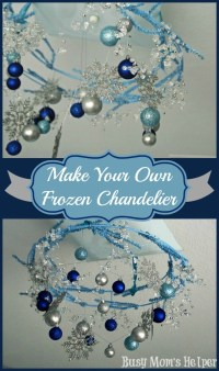 Someday Crafts: Make Your Own Frozen Chandelier