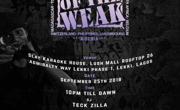 End Of The Weak MC Challenge Nigeria 2018