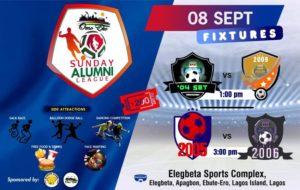 Sunday Alumni League happening again. See fixtures