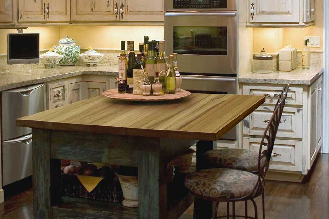 solid wood kitchen island high top table teak countertop