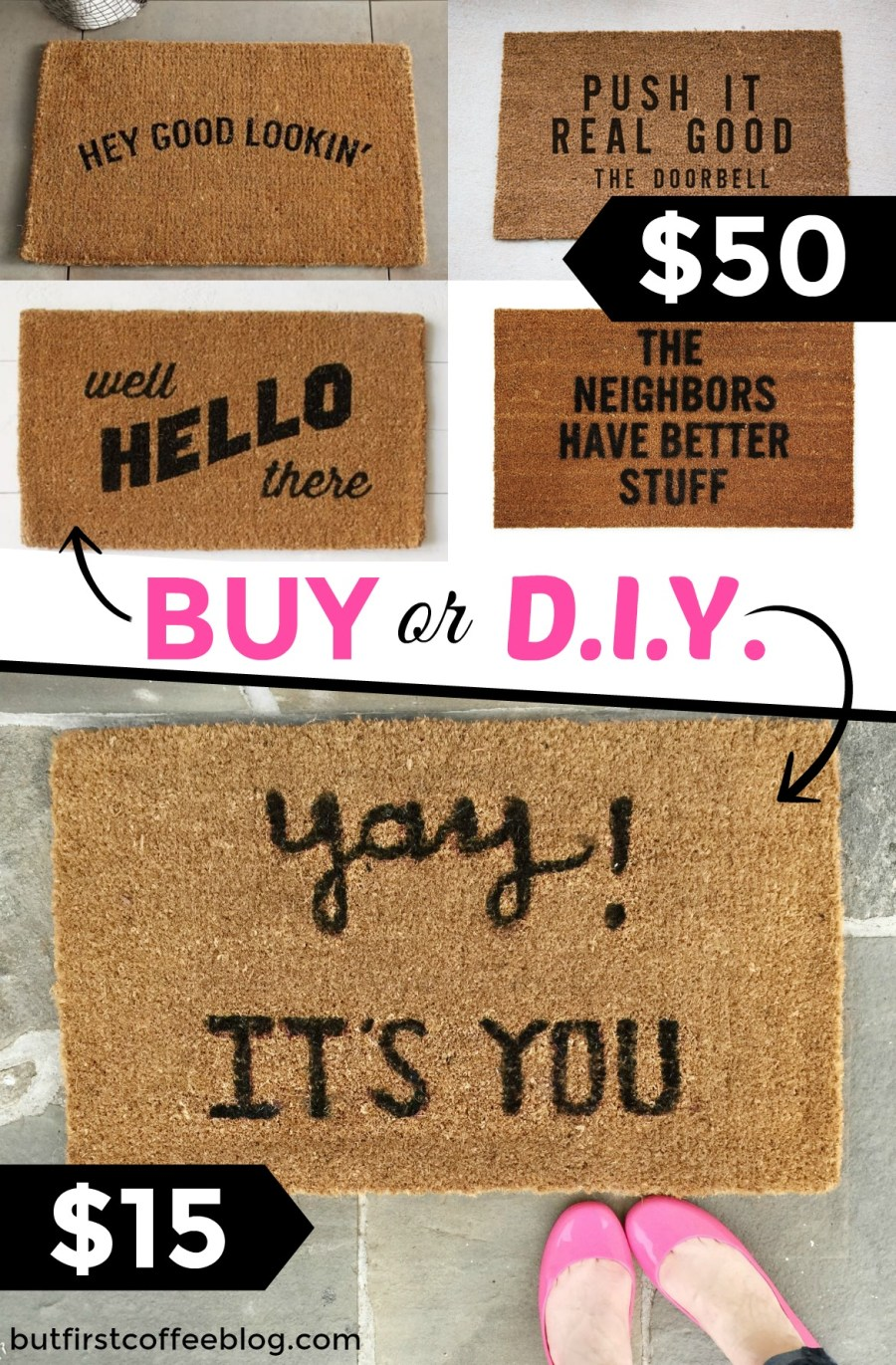 buy or diy doormat | How to make a DIY doormat