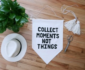 DIY Banner Wall Hanging with Quote
